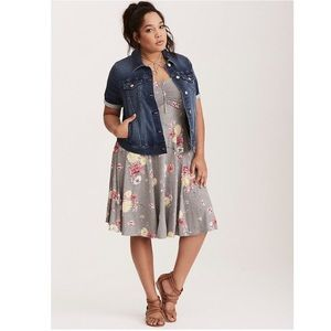 Torrid Denim Trucker Jean Jacket Short Sleeve